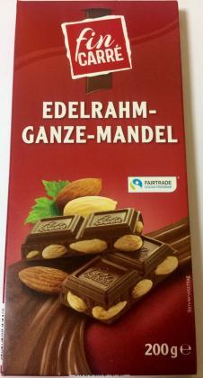 Шоколад Fin Carre Edelrahm-ganze-mandel молочный с миндалем 200 гр.