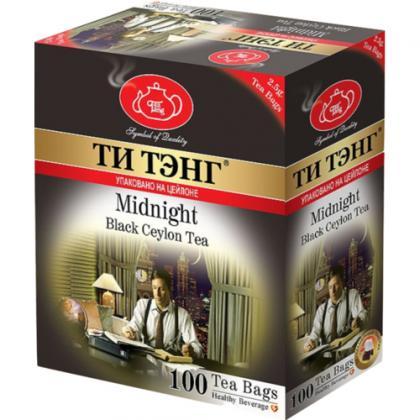 """Чай черный """"Ти Тэнг Для Полуночников"""" пакет. 100х2,5гр."""