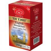 """Чай черный """"ТИ ТЭНГ Английский завтрак О.Р."""" крупнолистовой  200гр."""