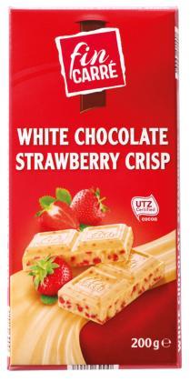 Шоколад молочный Fin Carre (с клубникой) 200гр.